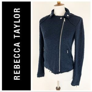 Rebecca Taylor Exclusive Navy MOTO Jacket Blazer
